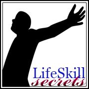 Lifeskill secrets joyfully manage your life your self and your stuff lifeskill secrets logo with man in freedom pose solutioingenieria Gallery